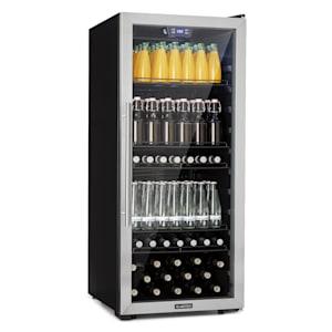Beersafe 7XL koelkast drankkoelkast | Volume: 242 liter | 5 inlegplateaus | Per graad instelbare binnentemperatuur van 1 tot 20 °C | Dubbel geïsoleerde glazen deur | Vrijstaand | Led | Front van rvs