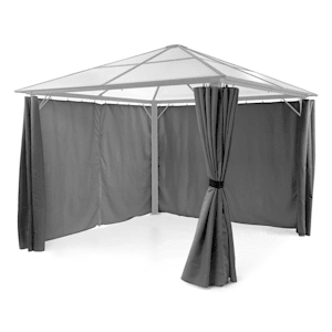 Pantheon Solid Sky Set parois latérales pergola 140g/m² polyester gris