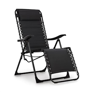 California Dreaming Sun Lounger, Upholstery, Steel Frame, Black