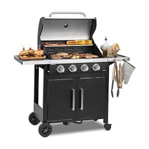 Klarstein Tomahawk 4.0 T Gas Grill 4 x 3.2 kW Burner 63x39cm Grill Stainless Steel