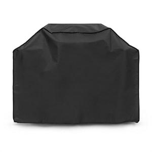 Gazooka 3.0T Gas BBQ Grill Regen-Cover Wetterschutz Schutzhülle | perfekte Passform: 134 x 100 x 49 cm (BxHxT) | robustes & schweres 600D Canvas | reißfest | wasserfest | abwaschbar | Material: 30% Polyester / 70% PVC | Überwinterungsschutz | schwarz