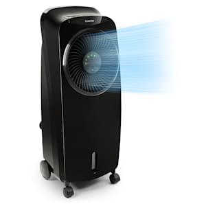 Klarstein Rotator Enfriador de aire 4 en 1 de 110W 396m³/h 3 intensidades Mando a distancia Negro
