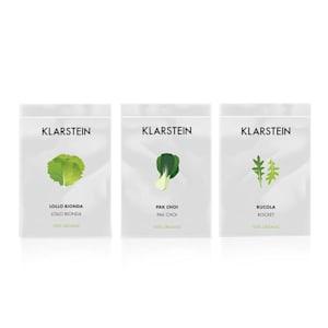 Klarstein GrowIt Seeds Salad | 3 Päckchen Samen: Lollo Bionda / Pak-Choi /  Rucola