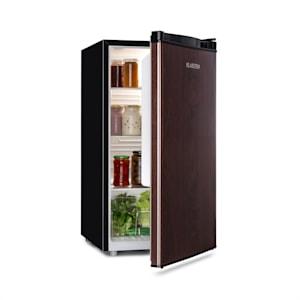 Feldberg Kühlschrank | Energieeffizienzklasse A+ | Volumen: 90 Liter | MirageCool Concept: Tür mit Holz-Design Print | Crisper Fach | Geräuschentwicklung: 42 dB | schwarz