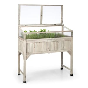 Altiplano Terrado Raised Growing Bed 120 x 121 x 54 Greenhouse Garden Fleece Wood