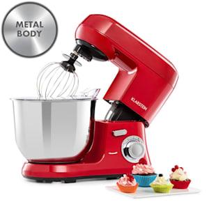 Bella Robusta Metal, robot de bucătărie, 1200 W, 6 niveluri de putere, 5,5 l, roșu