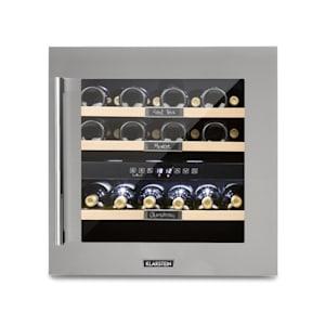 Klarstein Vinsider 36 Refrigerador de Vinhos 2 Compartimentos de Refrigeração 5-22°C 94l Aço Inoxidável