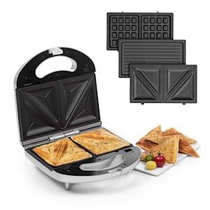 Trilit 3-in-1 Sandwich Maker 750W 3 grillplattor LED non-stick silver