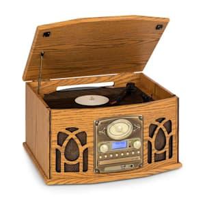 NR-620 DAB Stereoanlage Holz Plattenspieler DAB+ CD-Player braun