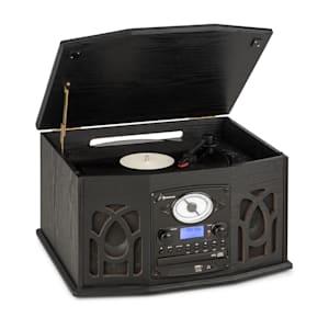 NR-620 DAB impianto stereo legno giradischi DAB+ lettore CD nero