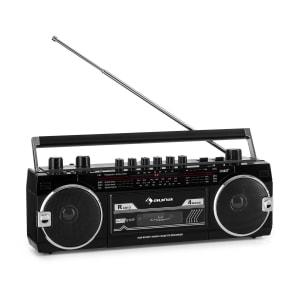 Magnétophone auna Duke MKII Radio BT USB lecteur SD Antenne télescopique noire