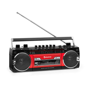 Duke MKII Radiocasete Bluetooth USB Ranura SD Antena telescópica Negra