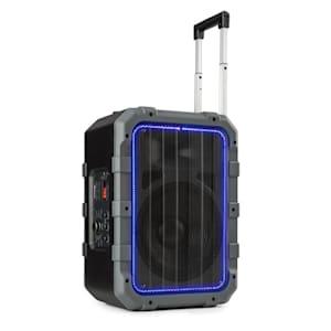 Spencer Mobiler PA-Lautsprecher 60W BT wasserfest nach IPX4 schwarz/grau