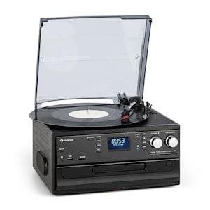 Oakland DAB Impianto Stereo Rétro Funzione DAB+/FM BT Vinili CD Cassette