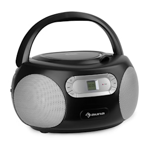 Haddaway CD Boombox Lettore CD BT FM AUX-IN Schermo LED nero