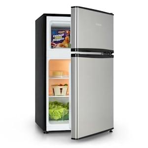 Big Daddy Cool, chladnička s mrazničkou, 65/25 litrov, ušľachtilá oceľ, A+, strieborná