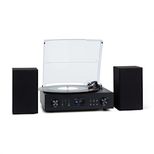 Connect Vinyl Smartradio Plattenspieler 2 Lautsprecher 20Wmax Internet/DAB+/UKW schwarz