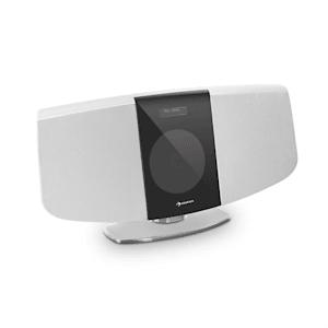 BlackMask Vertikal-Stereoanlage CD FM und DAB+ Tuner BT weiß