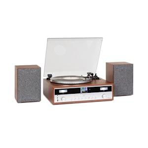 Birmingham système stéréo HiFi DAB+/FM BT Vinyle CD USB AUX-In bois