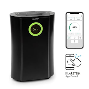 Klarstein DryFy Connect deumidificatore WiFi compressione 20l/d 20m² 370W nero