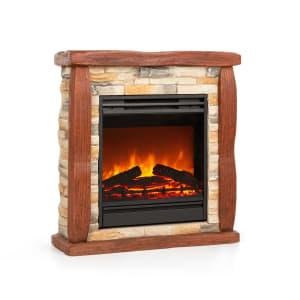 Klarstein Lienz Electric Fireplace 1800W Stone Decor Polystone Remote Control