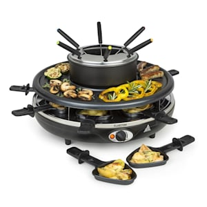 Fonduelette, raclette gril a fondue, 1350 W, 1 l, Ø 38 cm, pro 8 osob