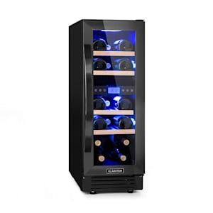 Klarstein Vinovilla 17 Built-in Duo Onyx Edition Refrigerador de Vinho C/ Dois Compartimentos 53l 17 Garrafas Porta de Vidro 3 Cores