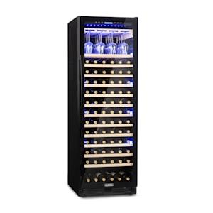 Klarstein Vinovilla Onyx Grande Refrigerador de Vinhos Grande Compartimento 433l 165 Garrafas Preto