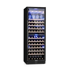 Vinovilla Onyx Grande Duo Weinkühlschrank 425l 165Fl. 3Farben Glas schwarz