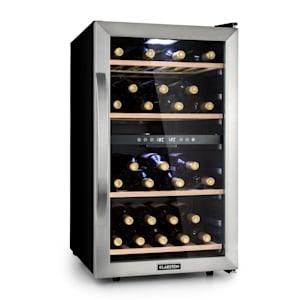 Klarstein Vinamour 45D Frigorífico de Vinho 2 Zonas 118 L / 45 fl 5-18 °C Aço Inox
