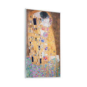 Wonderwall Air Art Kuss Infrarotheizung 60x101cm 600W Wandinstallation Fernbedienung weiß