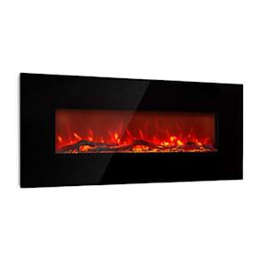 Lausanne Long, elektrický krb, 1600 W, 2 topné úrovně, 128 cm, černý