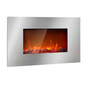 Lausanne Luxe, електрическа камина, 2000W, 2 етапа на отопление, 90 см, неръждаема стомана