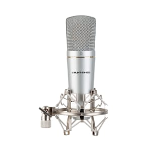 MIC-920 USB microfono a condensatore USB uscita cuffie Plug & Play argento