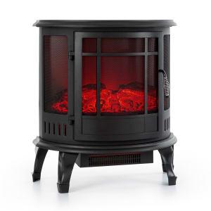 Megève Elektrischer Kamin 1850W LED-Feuer Thermostat dimmbar schwarz