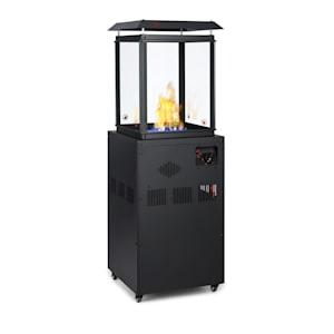 Stufa a gas Flagranti da 8kW bombole di gas fino a 11kg acciaio inox nero