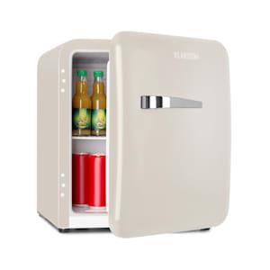 Audrey, mini retró hűtőszekrény, 48 l, 2 emelet, A+, krémszínű