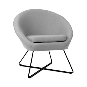 Emily Upholstered Chair Foam Upholstery Polyester Cover Steel gray