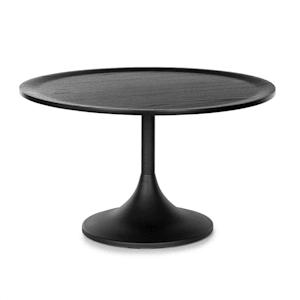 Big Visby Coffee Table 70x41.5cm (ØxH) Metal Multiplex Oak Veneer