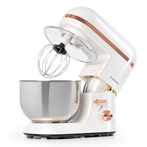 Bella Elegance Küchenmaschine Rührmaschine | 2000 W / 2,7 PS | 6 Leistungsstufen | Pulsfunktion | Planetarisches Rührsystem | 5 l Edelstahlschüssel | 3-tlg. Zubehör: Rühr- & Knethaken / Schneebesen | Applikationen | Edelstahl | BPA-frei
