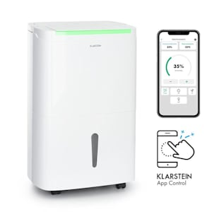 DryFy Connect 50 luchtontvochtiger WiFi compressie 50l/d 45-55m², wit