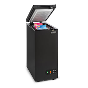 Iceblokk 50, mrazicí box, volně stojící, 50litrový koš, uzamykatelný, energetická třída A +, černý