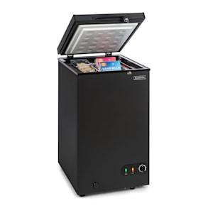 Iceblokk 80, fagyasztóláda, szabadon álló, 78 literes kosár, zárható, A+ energiahatékonysági osztály, fekete