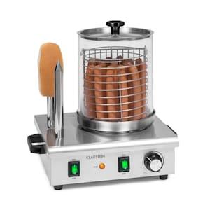 Wurstfabrik Pro 550 Hot Dog Maker 550W 2 Heizspieße 5L 30-100°C Glas Edelstahl