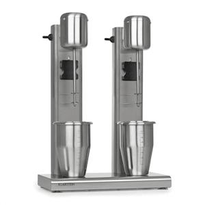 Kraftpaket II Pro -pirtelökone kahdella sekoittimella proteiinipirtelö 160 W ruostumaton teräs