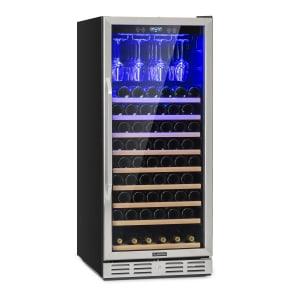Klarstein Vinovilla 127 rymligt-vinkylskåp 331l 127 flaskor glasdörr rostfritt stål