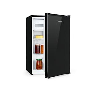 Delaware Kühlschrank | 76 Liter Fassungsvermögen | Energieeffizienzklasse A++ | 2 flexible Glasböden | Gefrierfach: 4 Liter | Flaschenfach bis 2 Liter | Schwarz