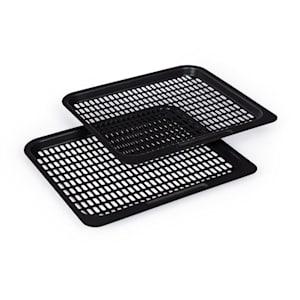 AeroVital Fry Set de 2 grilles de cuisson pour friteuse 24x 20cm acier