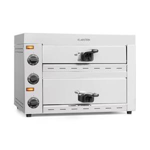 Vesuvio II, peć za pizzu, Gastro, 2 komore, 2260W, 300°C, timer, nehrđajući čelik, srebrna