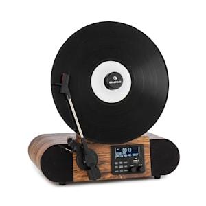 Verticalo SE DAB Tocadiscos Retro DAB+ Radio FM USB BT AUX Madera